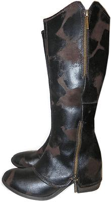 $425 Donald Pliner Tall Knee Riding Devi 3 Boot Espresso Brown Booties 7- 37...