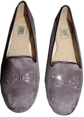 Ugg Australia Alloway-Crystal Bow Driving Slipper Moccasin Shoes 11- 42