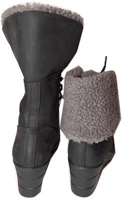 67a9db153b7 Ugg Australia Black Zea Shearling Wedge Lace Up Boots Ankle Booties ...