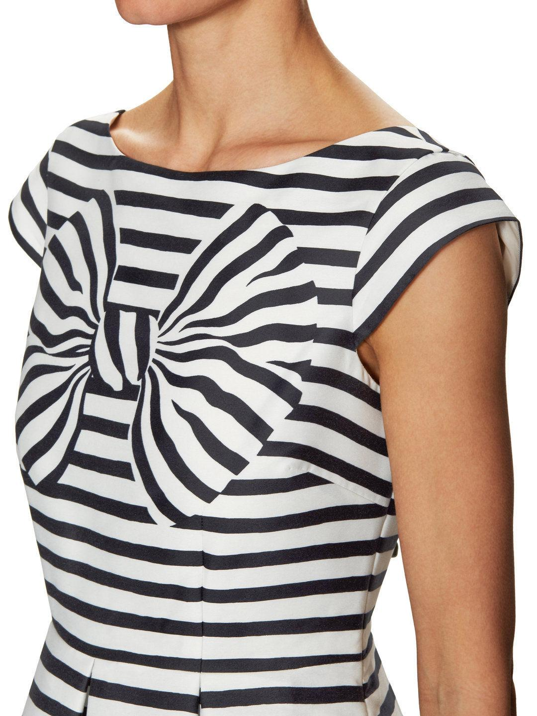 $448 Kate Spade New York Bow Stripe Mariella Fitted Dress Sz 14