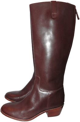 $398 Cole Haan Wesley Tall Zipper Back Riding Boot Flat Equestrian Bootie 9.5