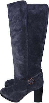 $1095 Tod's Navy Suede Tall Knee High Ankle Buckle Boot Bootie 40- 9.5