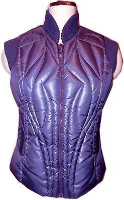 Bcbg Max Azria 90% Duck Down Quilted Vest Jacket Purple 2Xs -Xxs Fits To S