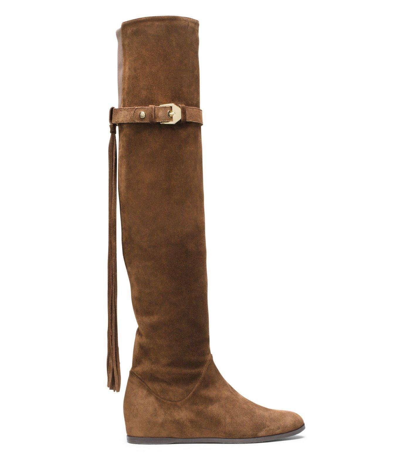 $785 Stuart Weitzman Boot 5050 Wedge Over Knee Booties 7 Troubadour Thigh High