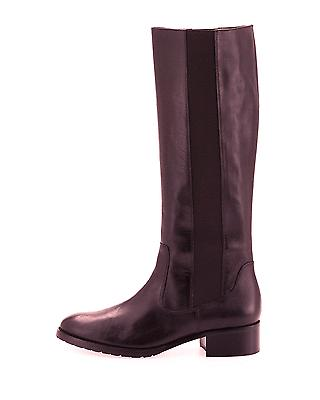 $398 Donald Pliner Buriel Riding Flat Boot Brown Equestrian Stretch Bootie 6-36