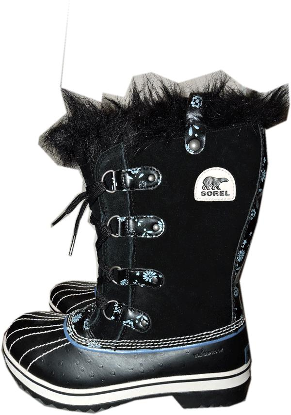 Sorel Waterproof Joan Of Arctic 6 Tall Boots Daisy Floral Fur Trim Booties - Click Image to Close