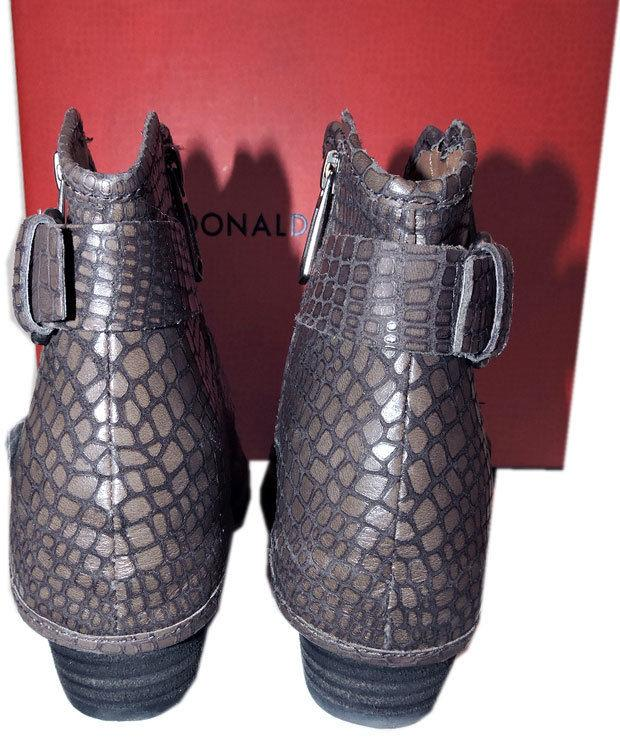 $348 Donald Pliner Ankle Riding Charcoal Dalis Vintage Python Boots 9.5 Booties - Click Image to Close