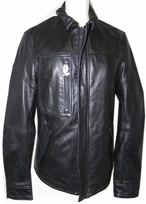 $495 Rogue Leather Moto Shirt Jacket Sz. S Black Lambskin Leather Bomber Zipper