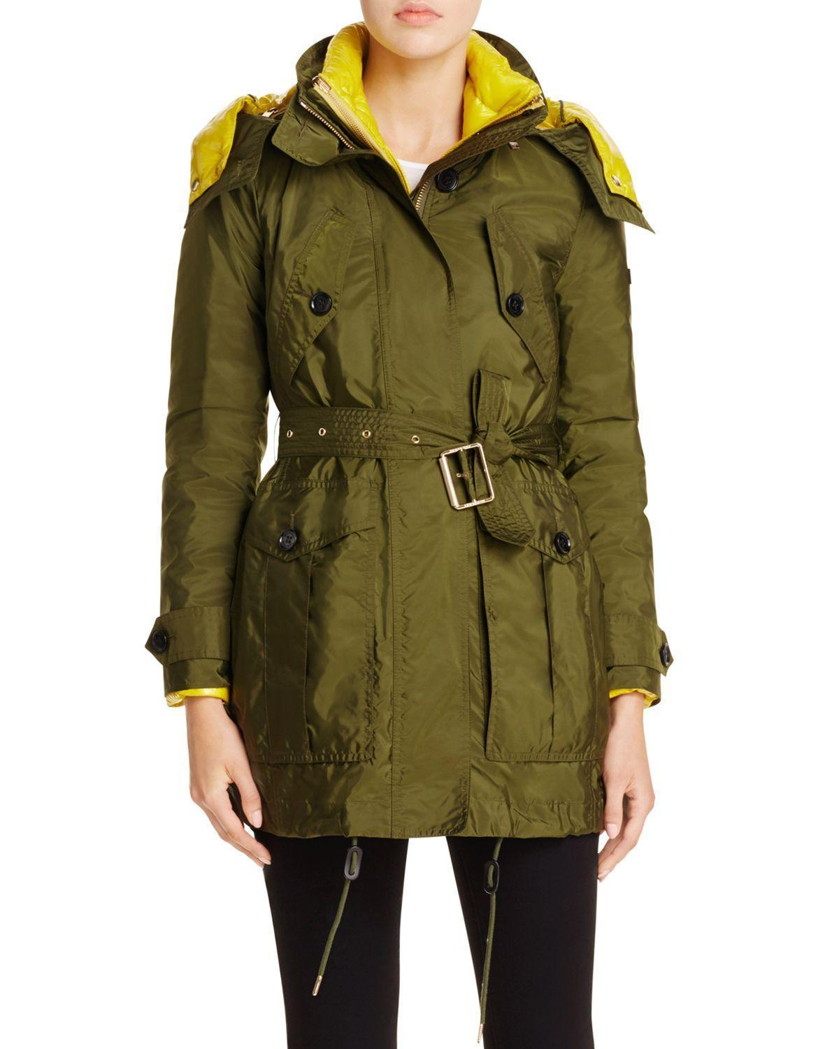 $1395 Burberry Chevrington Parka-Quilted Puffer Warmer Jacket Hooded Coat 4- 38