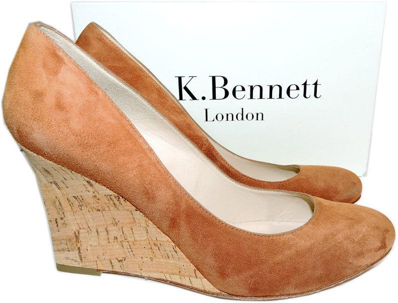 $325 L.k. Bennett Pump Harley Tan Eirene Wedge Pump Shoe Heel 41