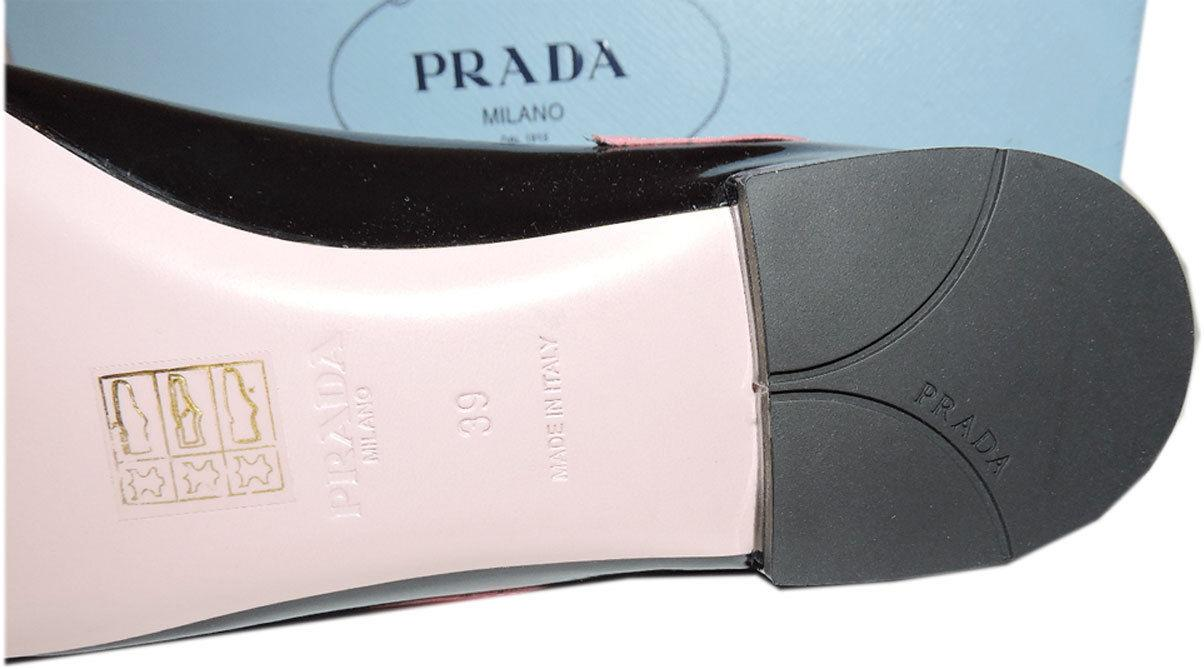 New Prada Applique Lips Flat Loafer 39 Ballerina Ballet Pointed Toe Kiss Pink - Click Image to Close