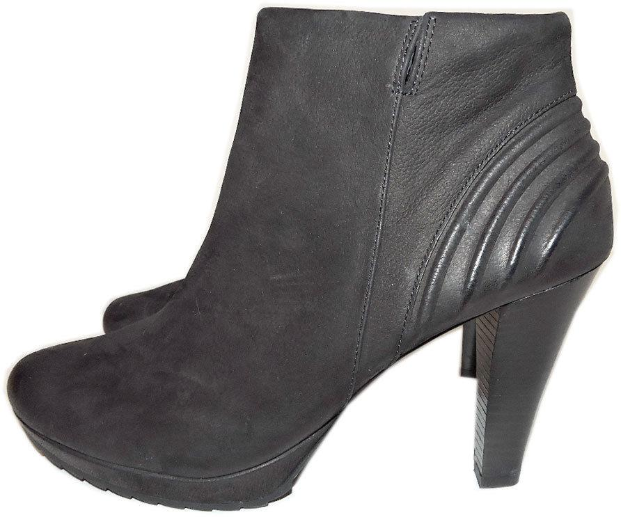 $395 Paul Green Black Ankle Boots Nadia Suede 10 Booties Shoes