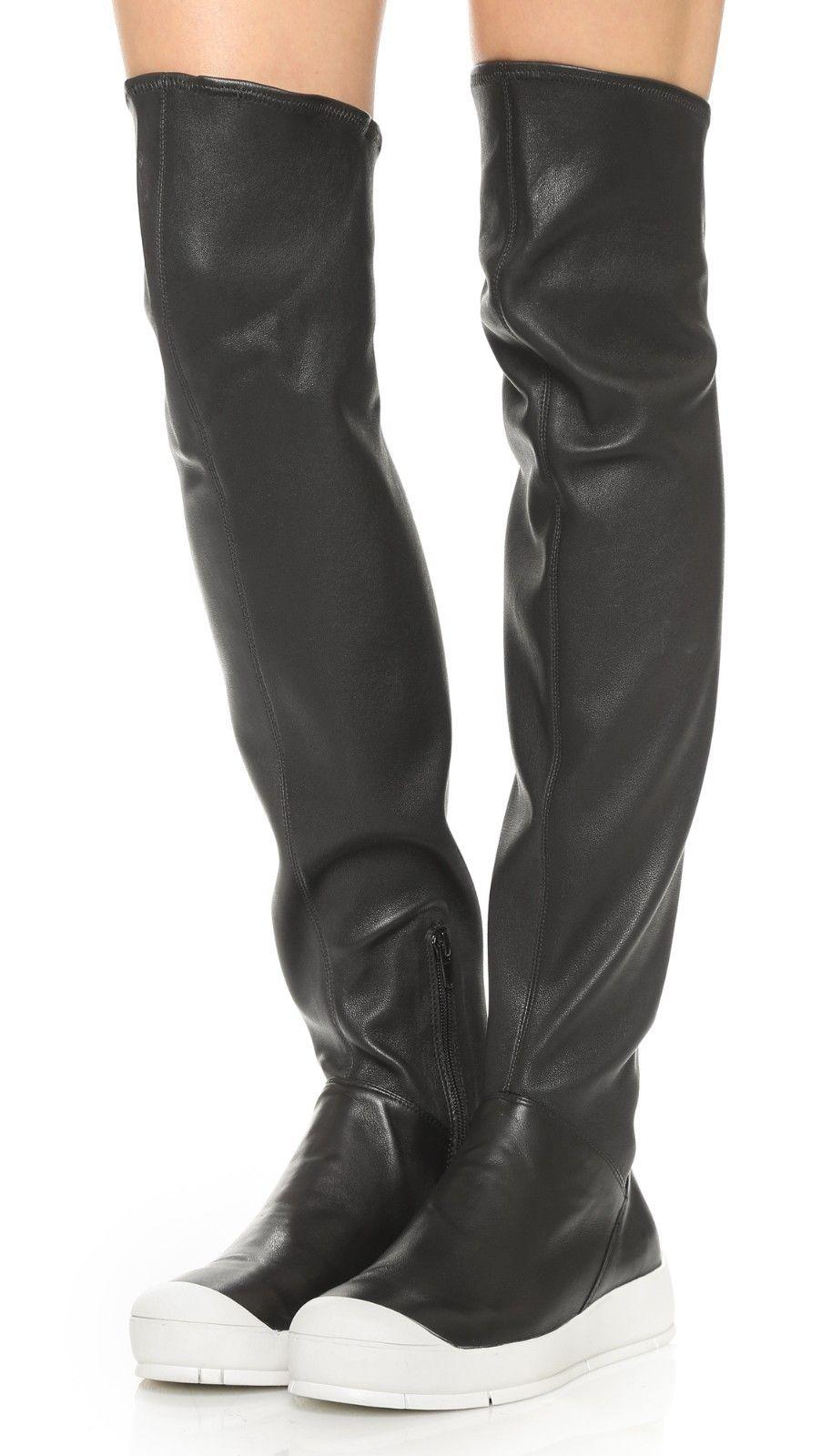 9611f0fea25 ATELJE 71 Mack Sneaker Over Knee Stretch Leather Boots Thigh High Booties  7.5