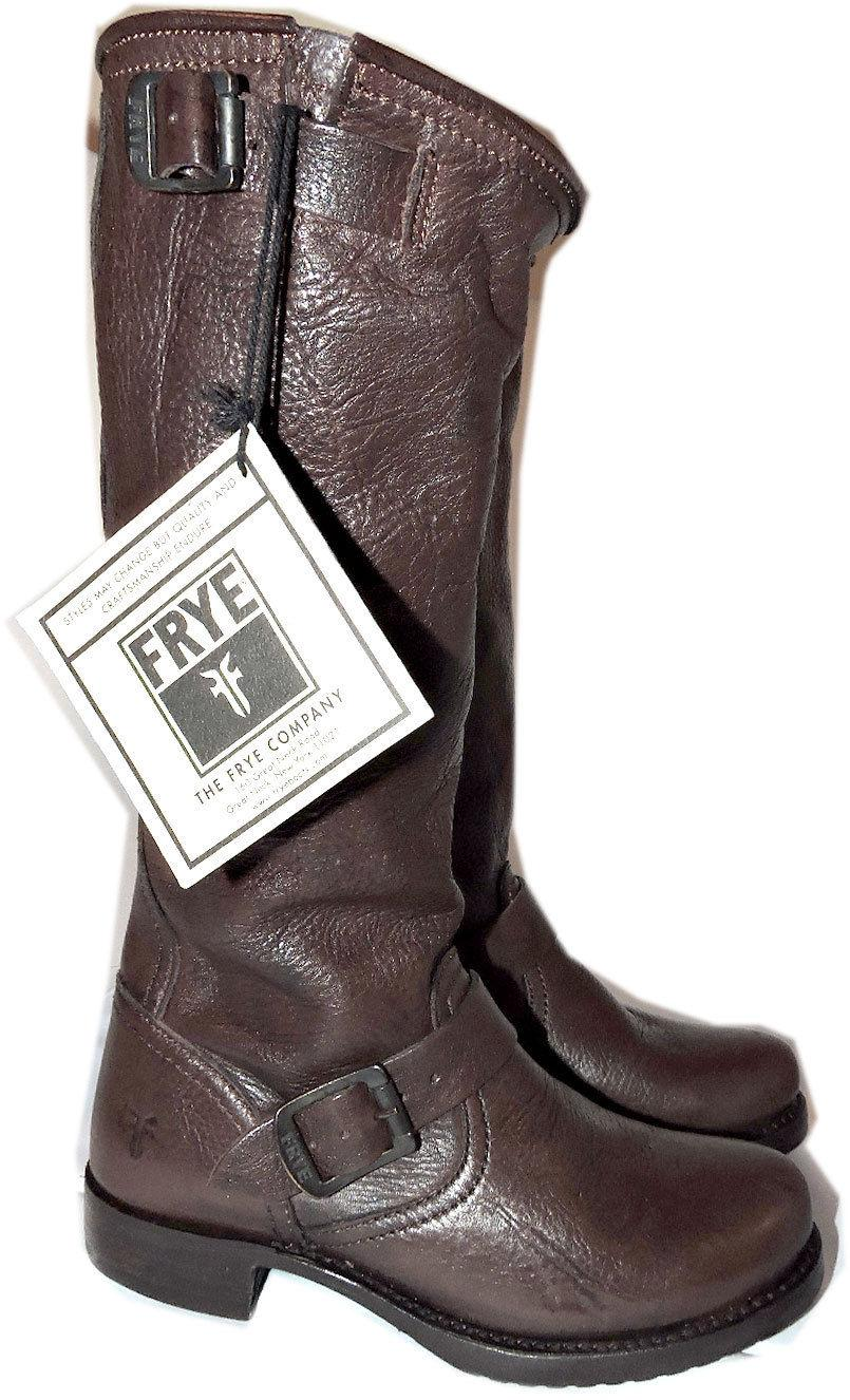 Frye Veronica Slouch Brown Leather Equestrian Biker Riding Boot 7-37 Bootie