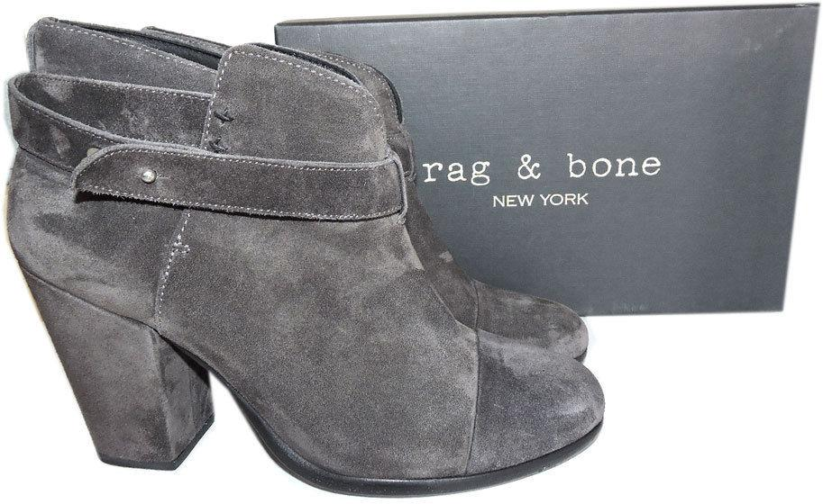 $495 Rag & Bone HARROW Gray Buckle Boots Ankle Booties Shoes 41-- 10