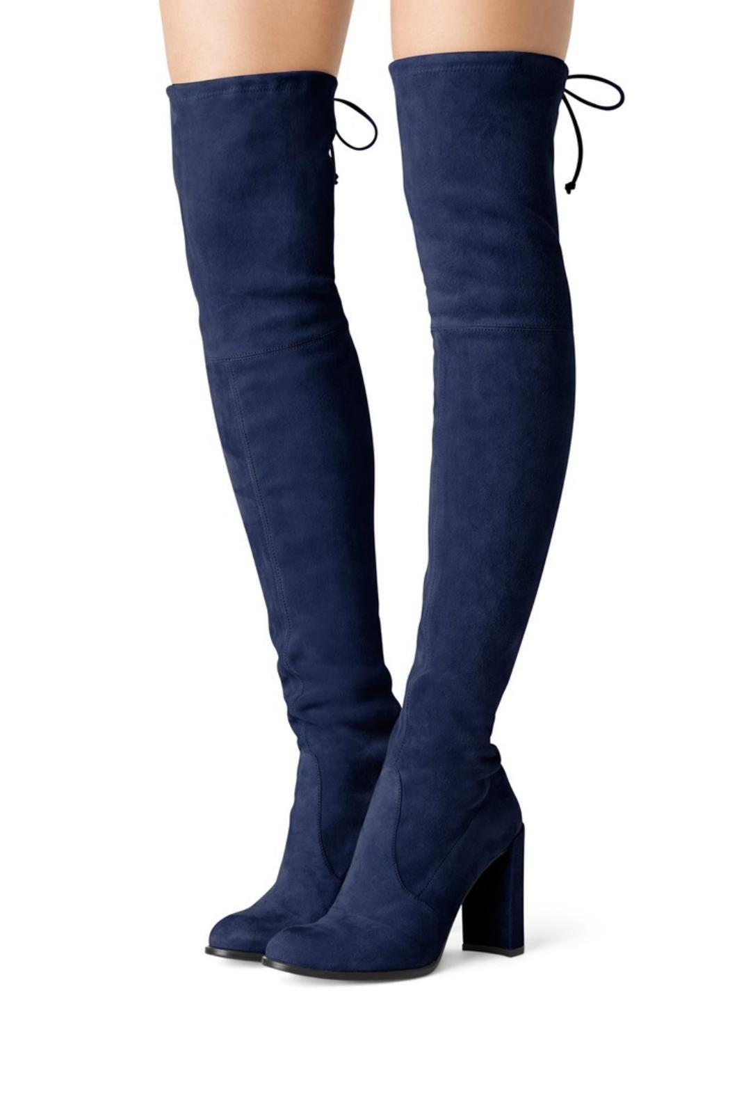 4bc10bf88f0  790 Stuart Weitzman Hiline Over the Knee Boot Suede Boots Thigh High Booties  6