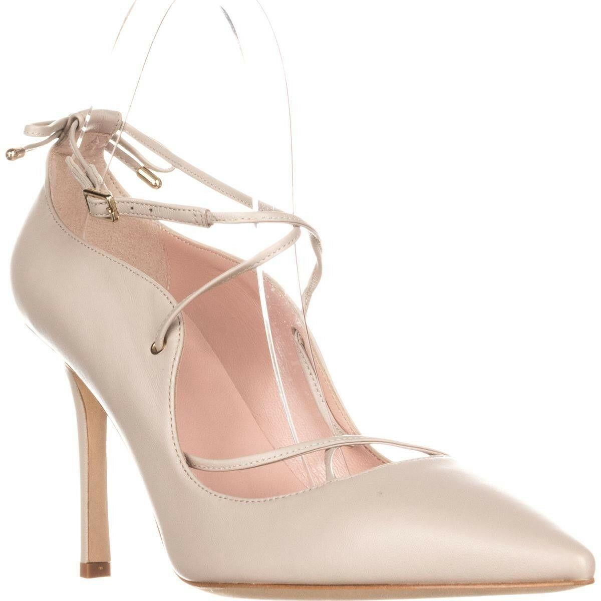 97bf8ed68166 Kate Spade Priscilla Lace-Up Heels Pale Taupe Pumps Pointy Toe Heel Shoe 7.5