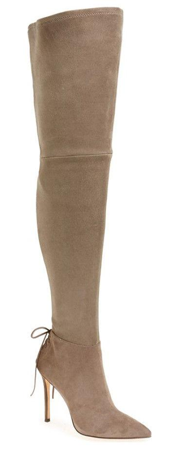 $595 Pour La Victoire Over the Knee Boot Caterina Pointed Thigh High Booties 7
