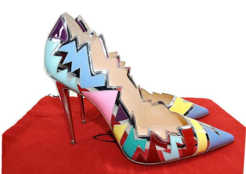 Christian Louboutin Silver Explotek Razor Edge Heels Pumps 39 Shoes