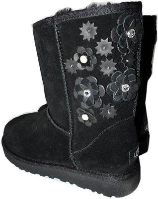 UGG Australia PETAL Suede Ankle Boots Flowers Classic Short Wedge Booties 9 - Click Image to Close