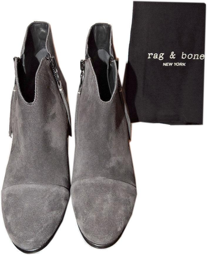 $495 Rag & Bone MARGOT Boots Double Zip Ankle Booties Heel Shoes 41 - 9 - Click Image to Close