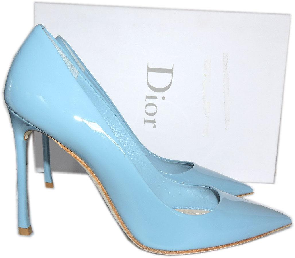 Christian Dior Baby Blue Pointy Toe Pumps Dioressence Heels ESSENCE Shoes 36.5