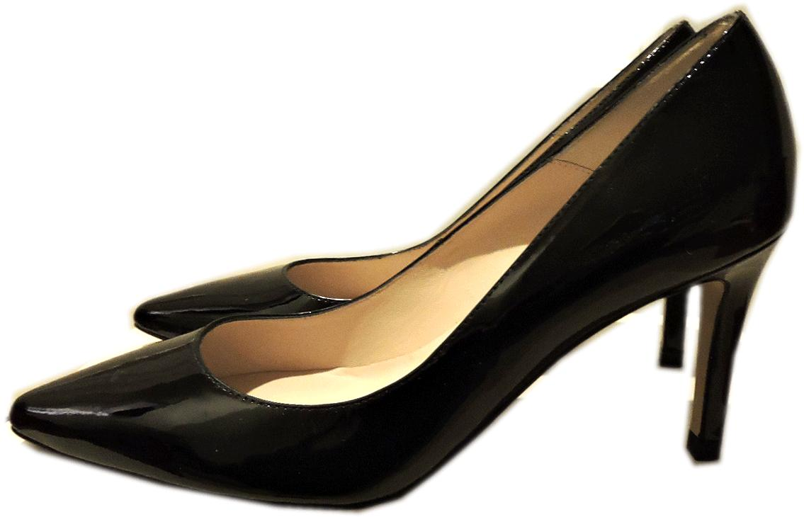 $350 L.k. Bennett Floret Pump Patent Leather Shoe Heel 41- 10 Pointy Toe