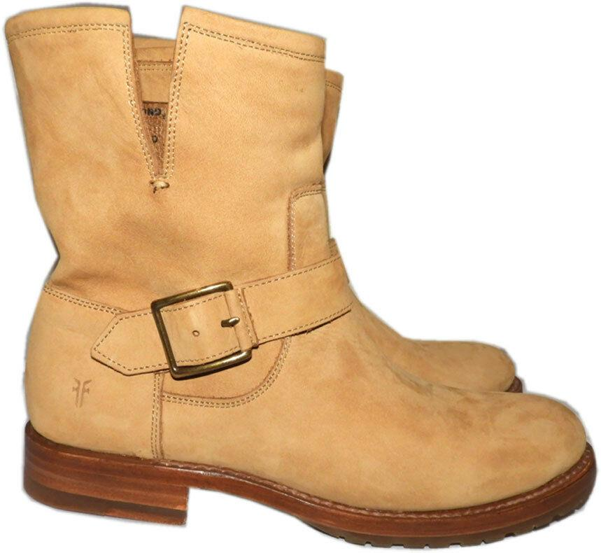 Frye NEW Natalie Short Engineer Sand Boots Womens Riding Booties Shoe 7