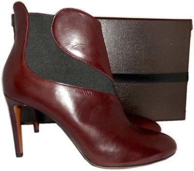 $1318 Azzedine Alaia Brown Gored Ankle Booties Heels Boots 41 - 9.5