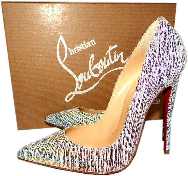 Christian Louboutin Unicorn Suede So Kate Pointed Toe Pumps Shoes 38
