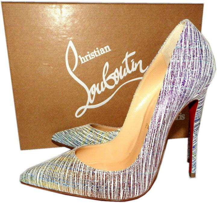 Christian Louboutin Unicorn Suede So Kate Pointed Toe Pumps Shoes 39