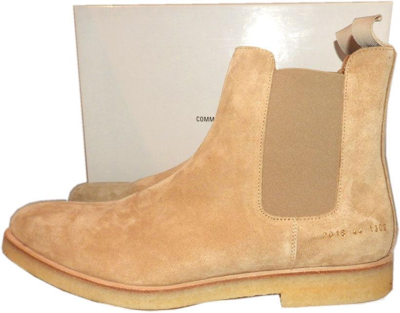 COMMON PROJECTS Tan Suede Chelsea Gored Slip On Men's Boots 44 Booties