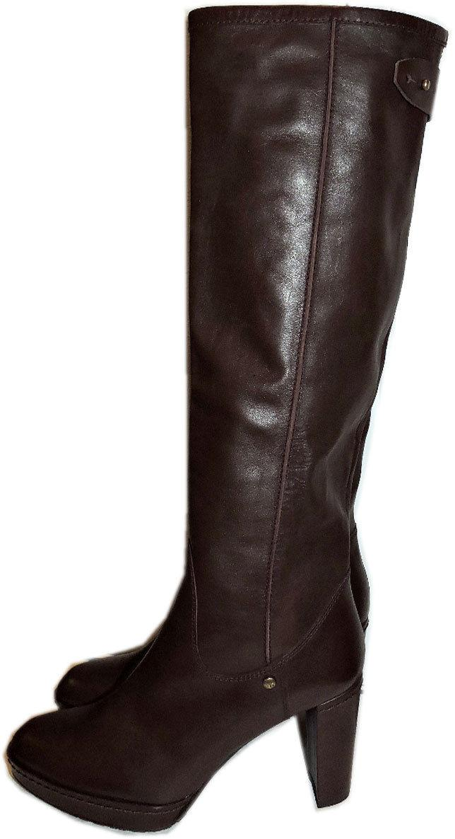 $695 Stuart Weitzman Boots Nappa Leather Tall Knee Boots Platform Booties 6.5
