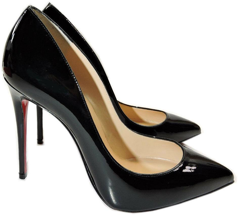 Christian Louboutin Black Pigalle Follie Pointed Toe Pump Shoes 41 -9.5