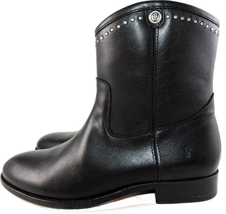 Frye MELISSA STUD SHORT Black Boots Women's Riding Moto Ankle Booties Shoes 6.5