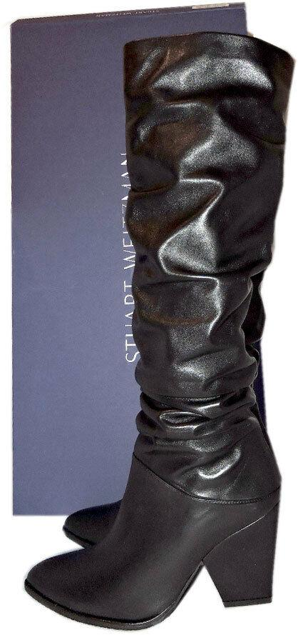 $775 Stuart Weitzman Boots Smashing Nappa Leather Tall Knee Boots Booties 7 - 37