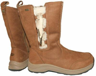$275 UGG Australia Midcalf Chestnut Zipper Vibrant Boots Fur Lined Booties 8.5