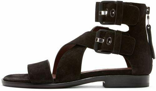 Rag & Bone Madeira Gladiator Suede/Leather Crisscross Sandals Flat Shoe 38 - Click Image to Close