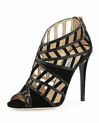 Jimmy Choo Cutout Sandals Vector Caged Booties Pumps Heels Shoes 39.5