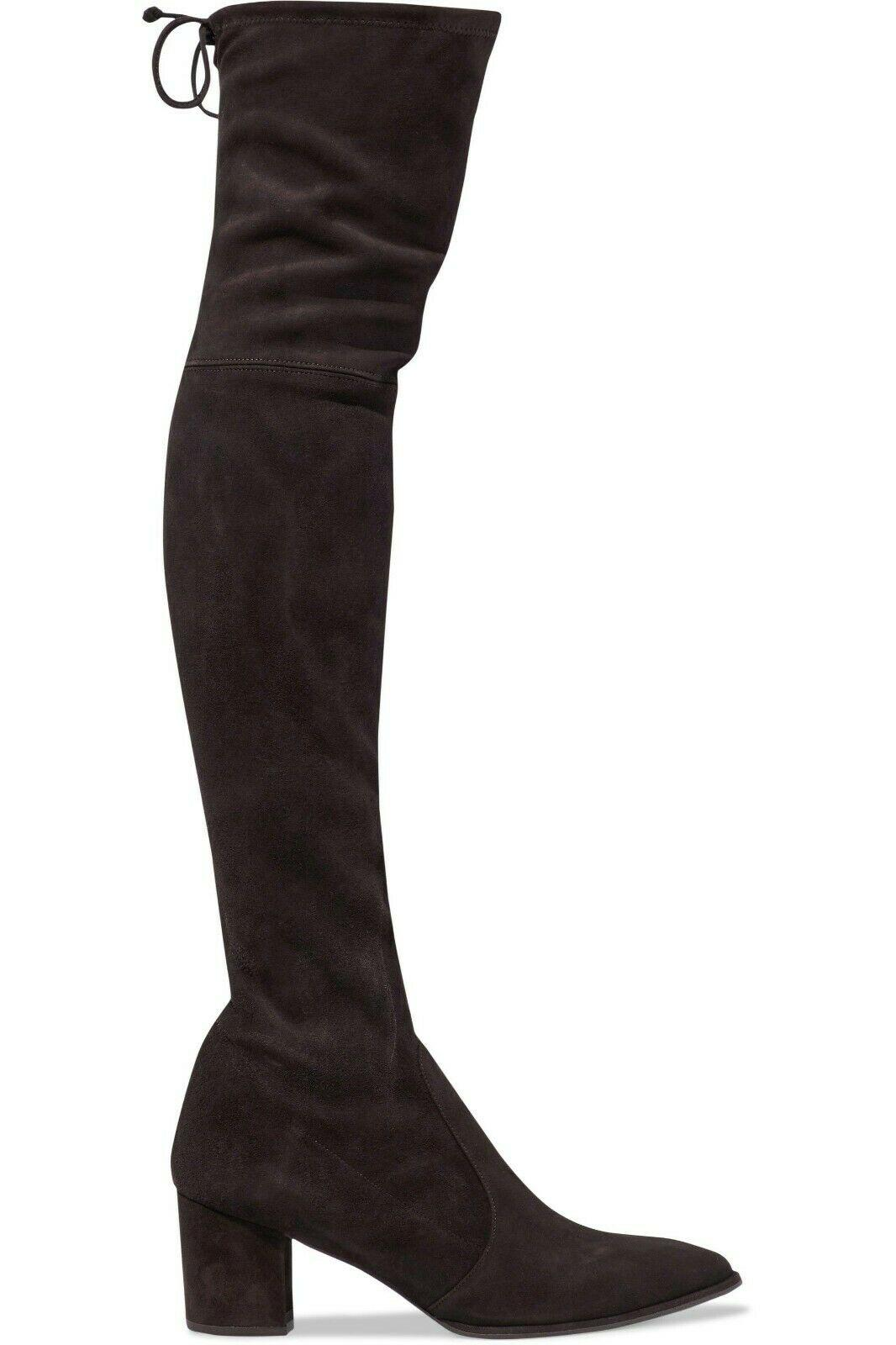 $798 Stuart Weitzman Thighlan Over Knee Boot Suede Boots Thigh High Shoes 10