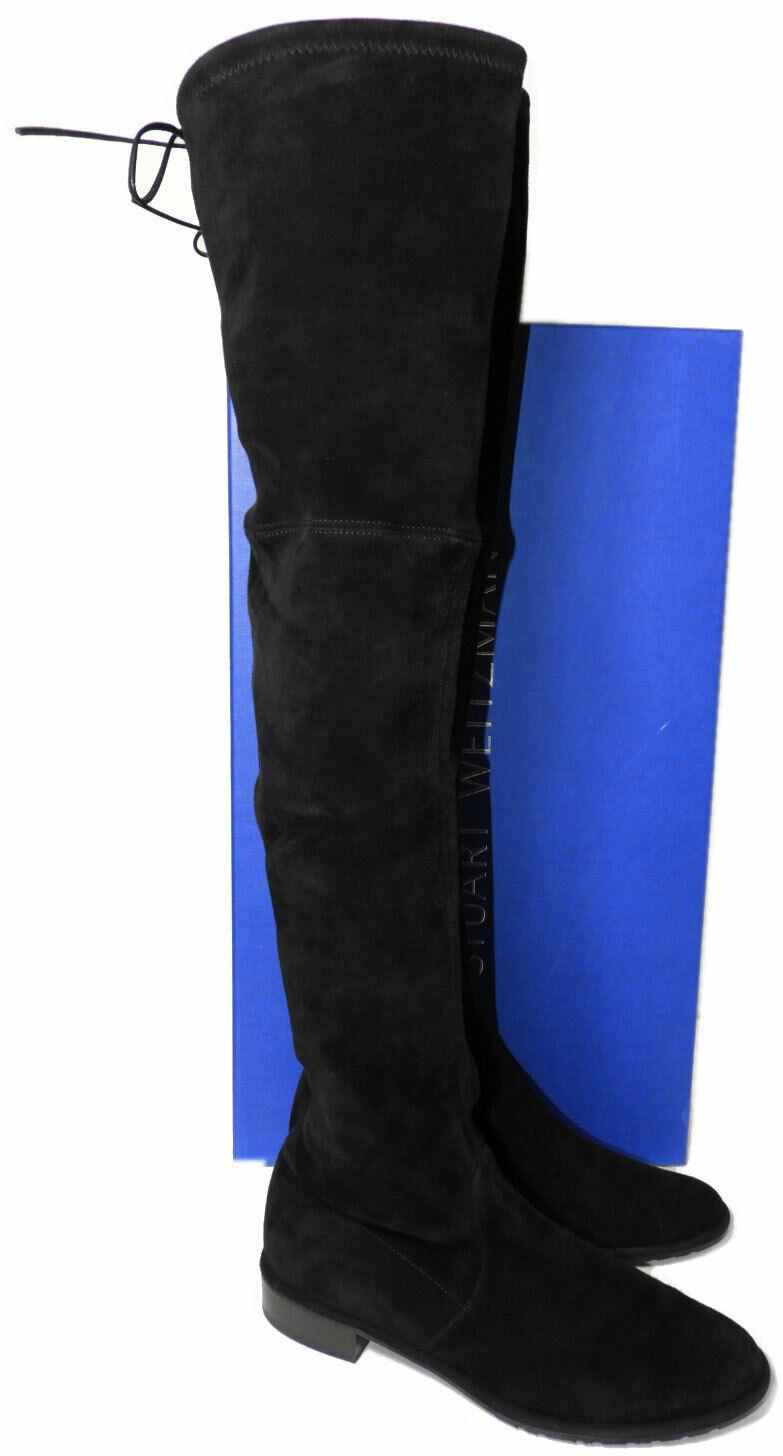 $798 Stuart Weitzman LOWLAND Over the Knee Boots Suede Boot Thigh High Shoes 9