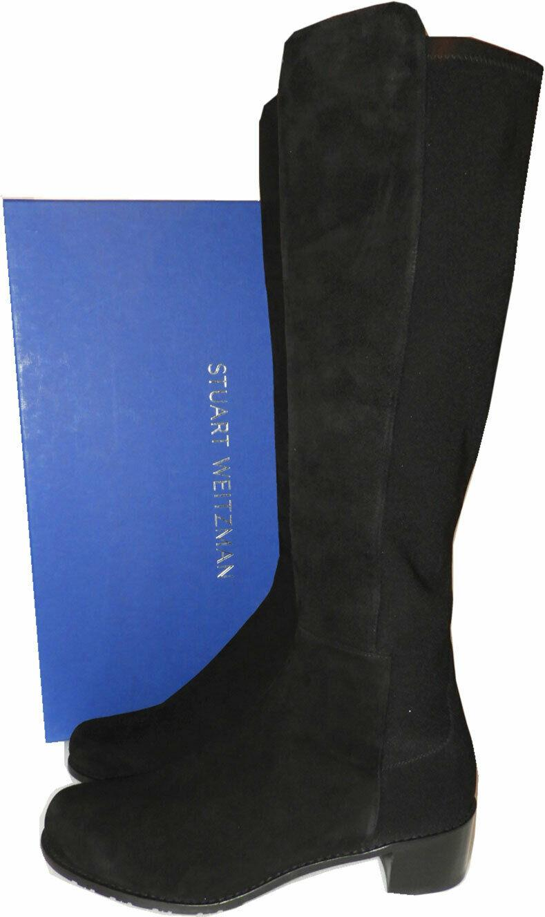 Stuart Weitzman RESERVE Stretch Suede 5050 Knee High Boots 9