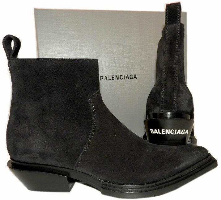 $1090 Balenciaga Santiag Cowboy / Biker Western Boots Ankle Booties 40 Boot