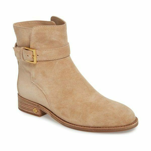 Tory Burch Perfect Sand Suede Brooke Ankle Boots / Booties Sz. 9